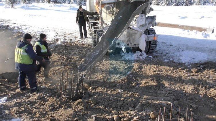 Заливка бетона на морозе